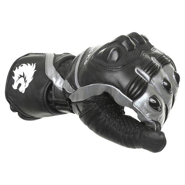 BKS Racing Pro Black Gun Motorcycle Glove Knuckle