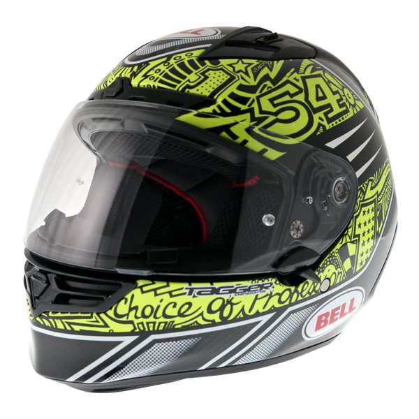 Bell Star Carbon SE Tagger Trouble Full Face Motorcycle Helmet Front Left
