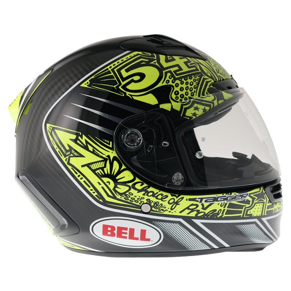 Bell Star Carbon SE Tagger Trouble Full Face Motorcycle Helmet Right Side