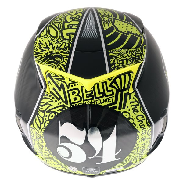 Bell Star Carbon SE Tagger Trouble Full Face Motorcycle Helmet Back