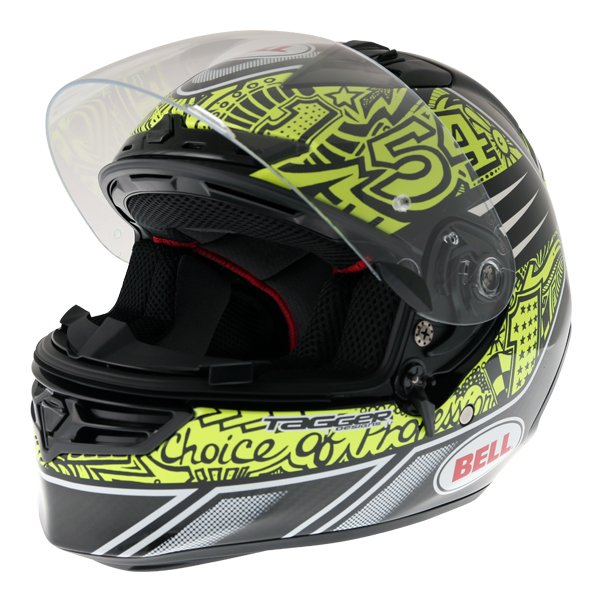 Bell Star Carbon SE Tagger Trouble Full Face Motorcycle Helmet Open