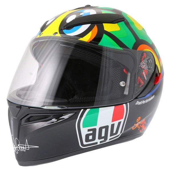 AGV K3 SV Valentino Rossi Tartaruga Full Face Motorcycle Helmet Front Left
