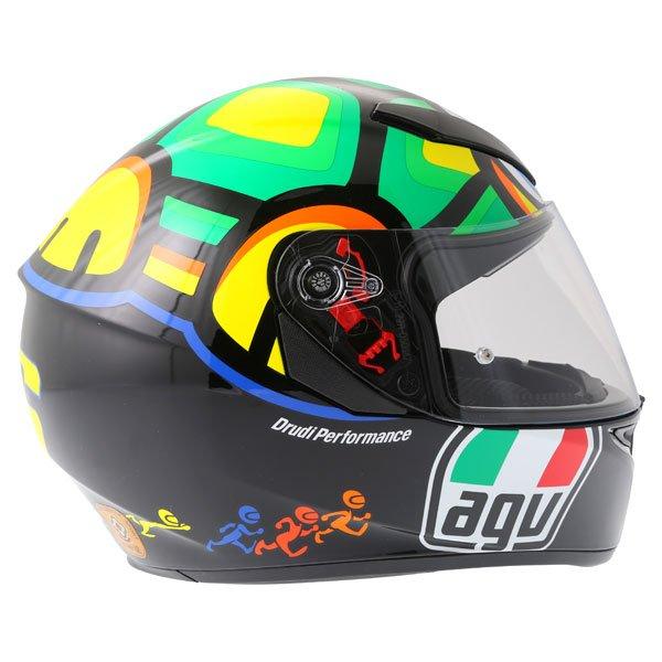 AGV K3 SV Valentino Rossi Tartaruga Full Face Motorcycle Helmet Right Side