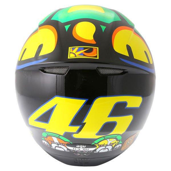 AGV K3 SV Valentino Rossi Tartaruga Full Face Motorcycle Helmet Back
