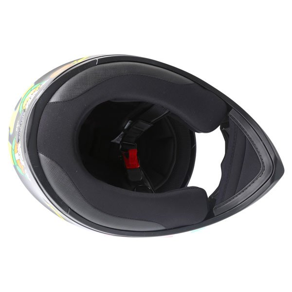 AGV K3 SV Valentino Rossi Tartaruga Full Face Motorcycle Helmet Inside