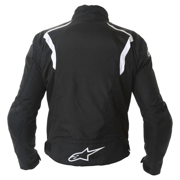 Alpinestars Fastback Mens Black White Waterproof Textile Motorcycle Jacket Back