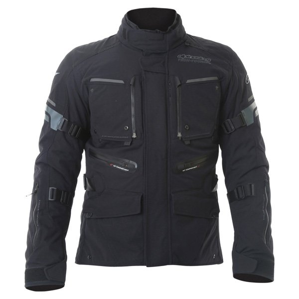 Alpinestars Valparaiso 2 Drystar Mens Black Grey Red Waterproof Textile Motorcycle Jacket Front