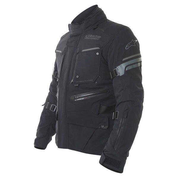 Alpinestars Valparaiso 2 Drystar Mens Black Grey Red Waterproof Textile Motorcycle Jacket Side