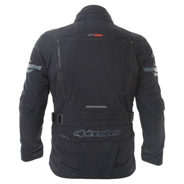 Alpinestars Valparaiso 2 Drystar Mens Black Grey Red Waterproof Textile Motorcycle Jacket Back
