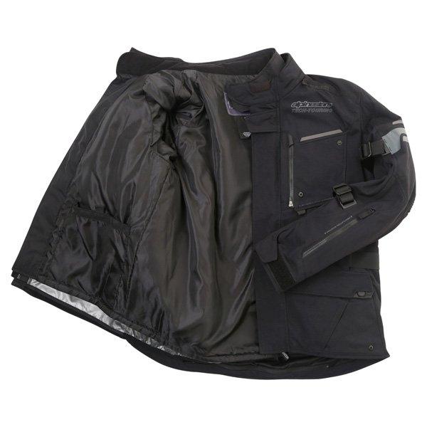 Alpinestars Valparaiso 2 Drystar Mens Black Grey Red Waterproof Textile Motorcycle Jacket Inside