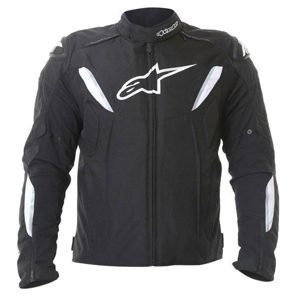 Alpinestars T-GP R Mens Black White Waterproof Textile Motorcycle Jacket Front