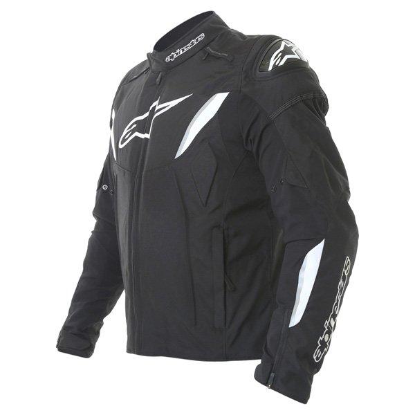 Alpinestars T-GP R Mens Black White Waterproof Textile Motorcycle Jacket Side