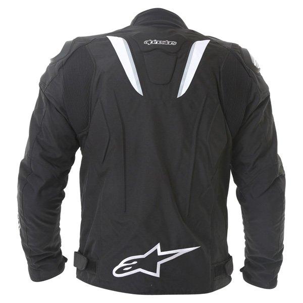 Alpinestars T-GP R Mens Black White Waterproof Textile Motorcycle Jacket Back