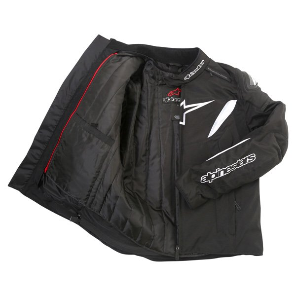 Alpinestars T-GP R Mens Black White Waterproof Textile Motorcycle Jacket Inside