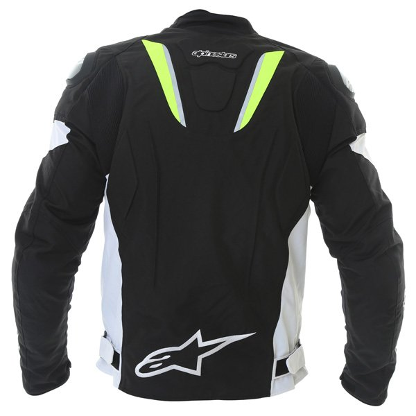 Alpinestars T-GP R Mens White Black Yellow Waterproof Textile Motorcycle Jacket Back