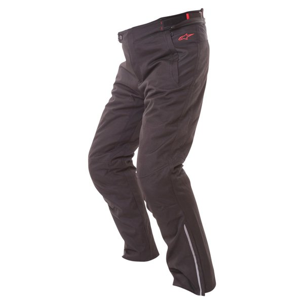 Alpinestars Protean Drystar Mens Black Red Waterproof Textile Motorcycle Pants Riding position