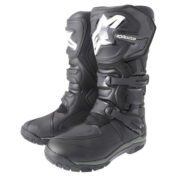 Alpinestars Corozal Drystar Black Adventure Motorcycle Boot Pair