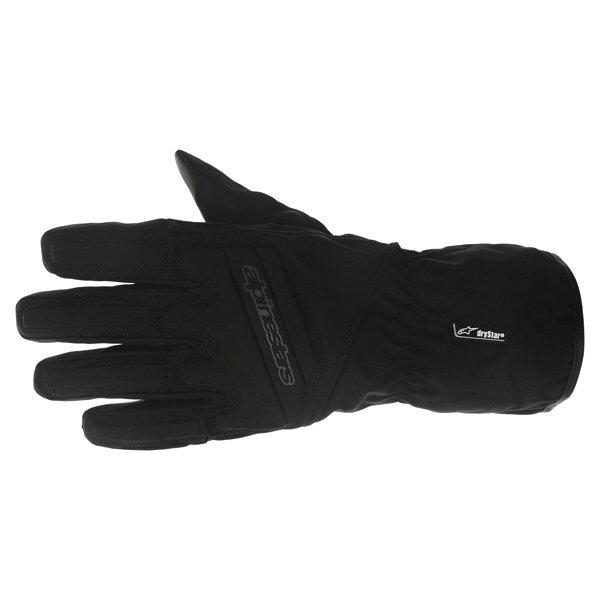 Alpinestars SR-3 Drystar Waterproof Black Motorcycle Gloves Back