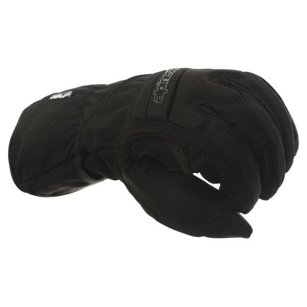 Alpinestars SR-3 Drystar Waterproof Black Motorcycle Gloves Knuckle