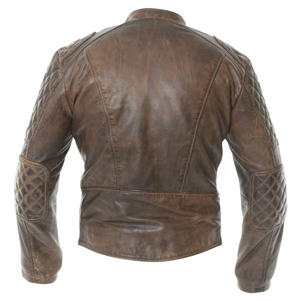 Frank Thomas B5 Antique Brown Leather Motorcycle Jacket Back