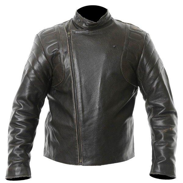 Frank Thomas Crusader Brown Leather Motorcycle Jacket Front