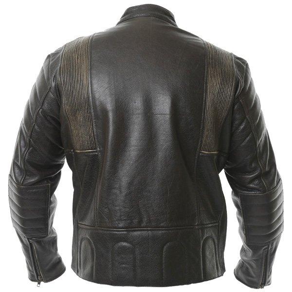 Frank Thomas Crusader Brown Leather Motorcycle Jacket Back