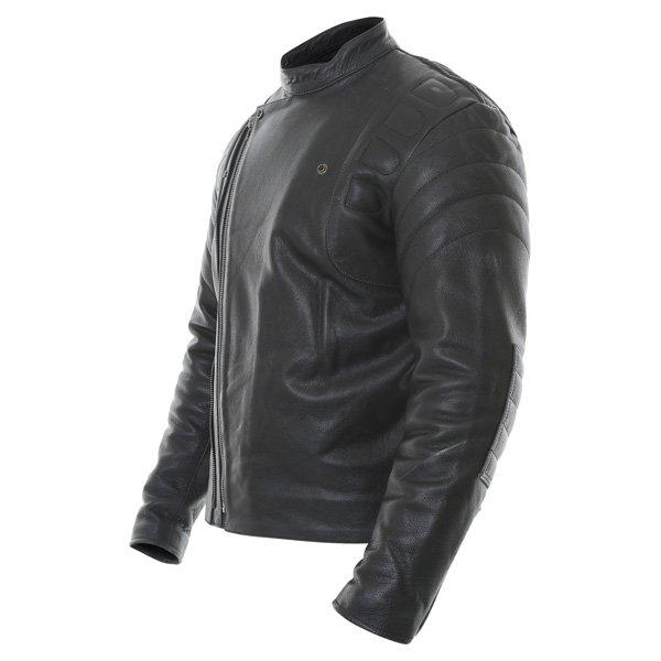 Frank Thomas Crusader Black Leather Motorcycle Jacket Side
