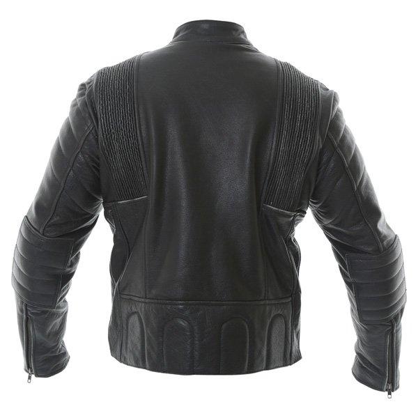 Frank Thomas Crusader Black Leather Motorcycle Jacket Back