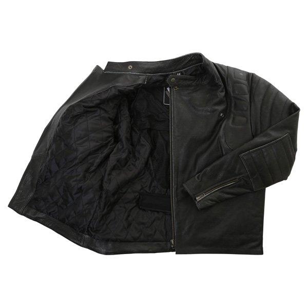 Frank Thomas Crusader Black Leather Motorcycle Jacket Inside