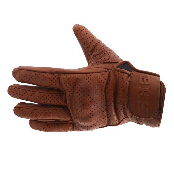 BKS Jack Brown Motorcycle Gloves Back