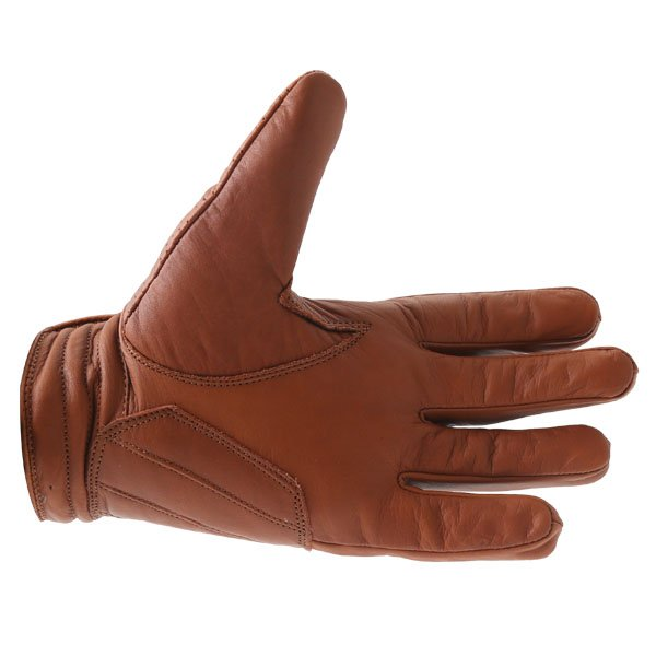 BKS Jack Brown Motorcycle Gloves Palm