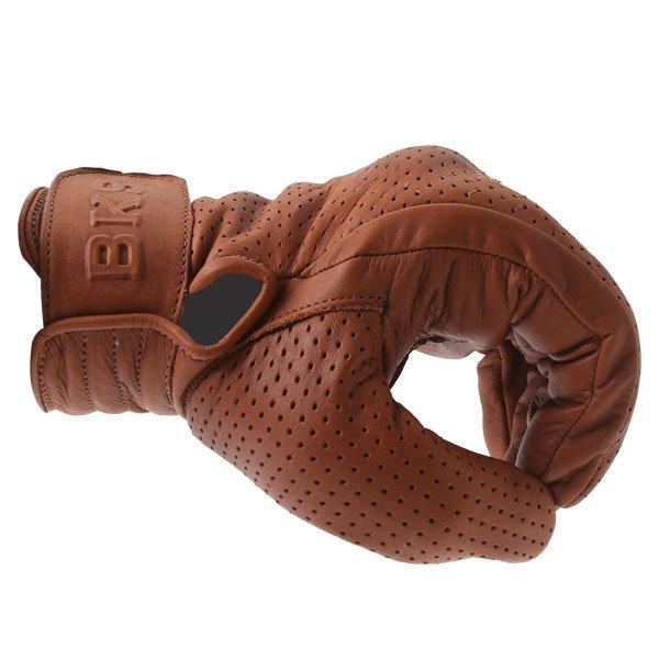 BKS Jack Brown Motorcycle Gloves Knuckle