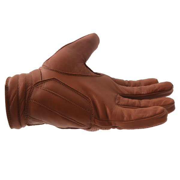 BKS Jack Brown Motorcycle Gloves Little finger side