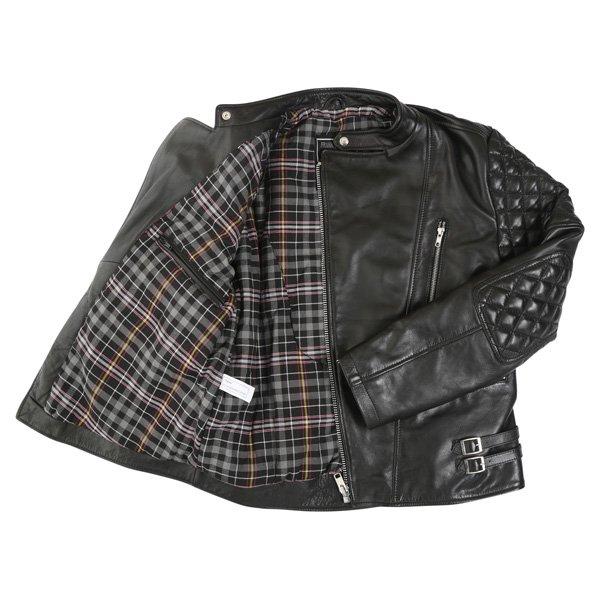 Frank Thomas B5 Black Leather Motorcycle Jacket Inside