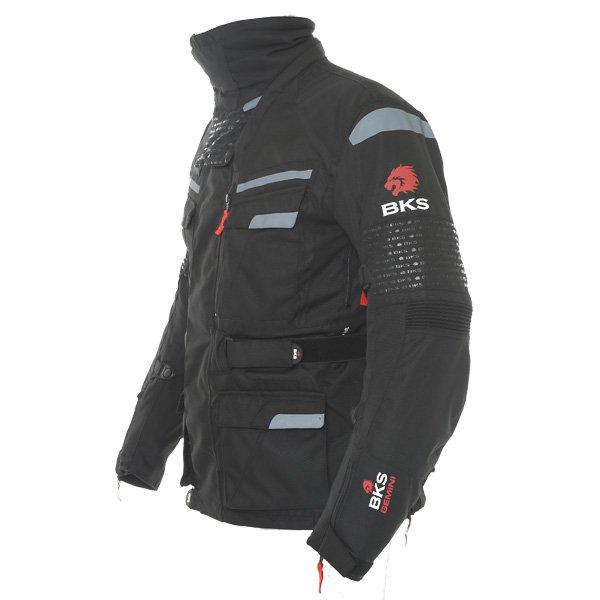 BKS Gemini T2 Mens Black Grey Textile Motorcycle Jacket Side