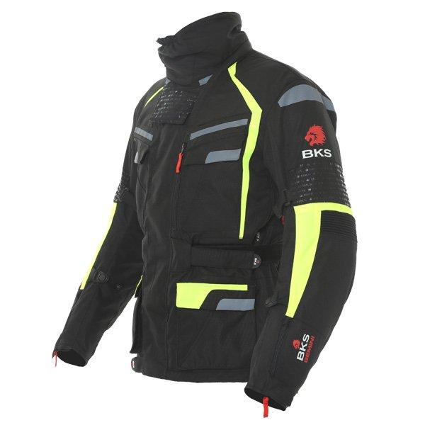BKS Gemini T2 Mens Black Yellow Textile Motorcycle Jacket Side