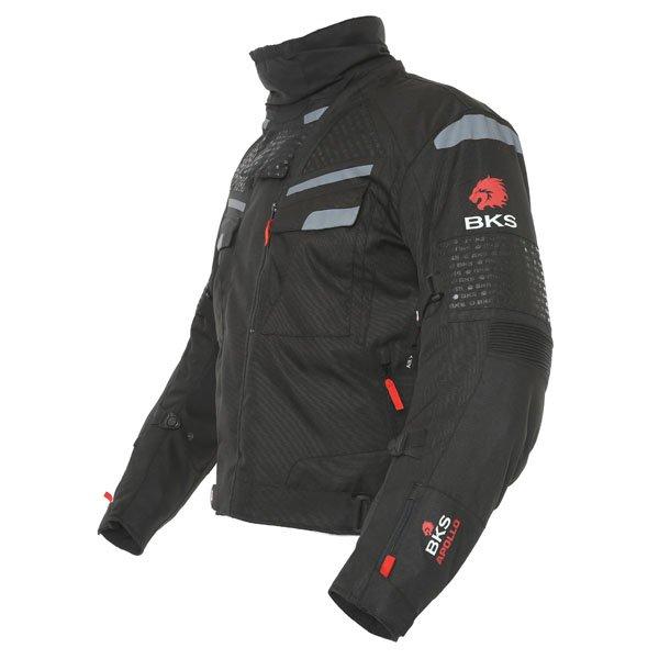 BKS Apollo S2 Mens Black Grey Textile Motorcycle Jacket Side