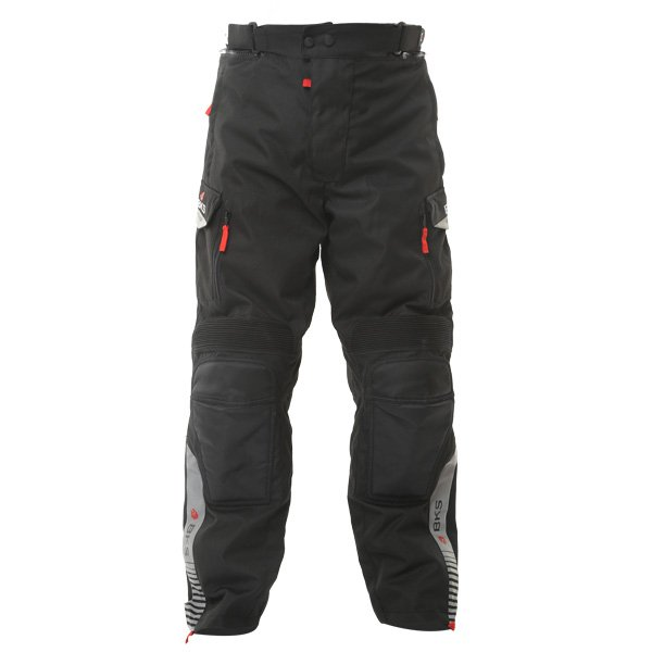 BKS Endeavour Mens Grey Black Textile Motorcycle Trousers Front