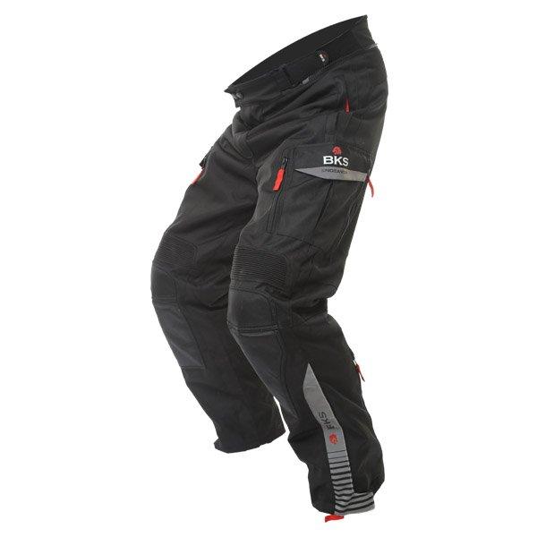 BKS Endeavour Mens Grey Black Textile Motorcycle Trousers Riding position