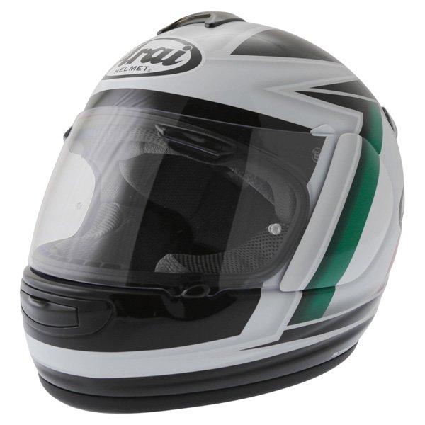 Arai Chaser-V Italia Flag Full Face Motorcycle Helmet Front Left