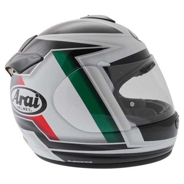 Arai Chaser-V Italia Flag Full Face Motorcycle Helmet Back