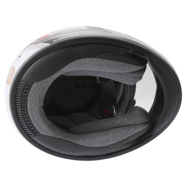 Arai Chaser-V Italia Flag Full Face Motorcycle Helmet Inside