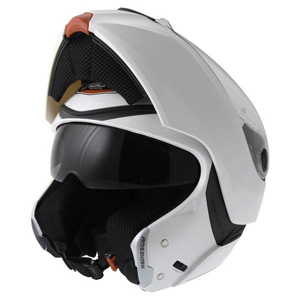 Caberg Modus White Flip Front Motorcycle Helmet Flip Open