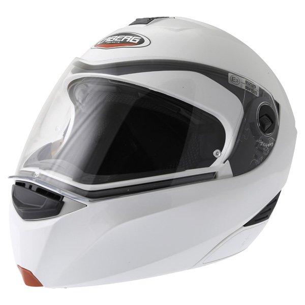 Caberg Modus White Flip Front Motorcycle Helmet Front Left