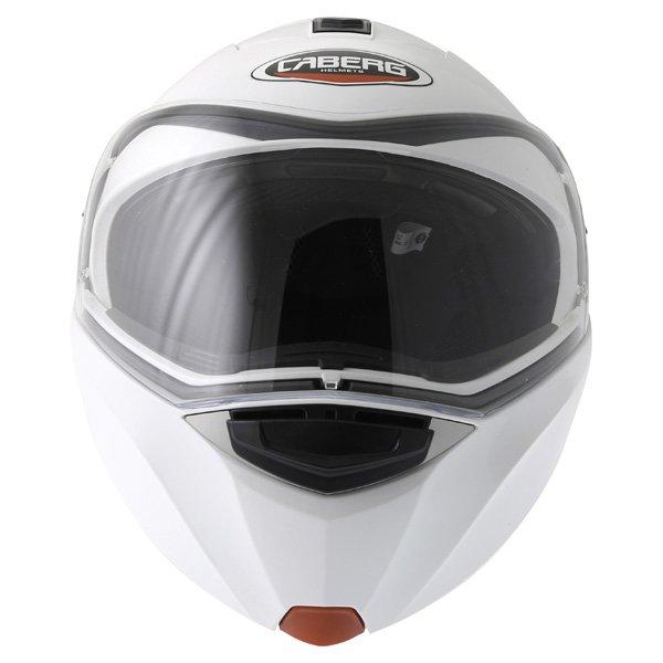 Caberg Modus White Flip Front Motorcycle Helmet Front