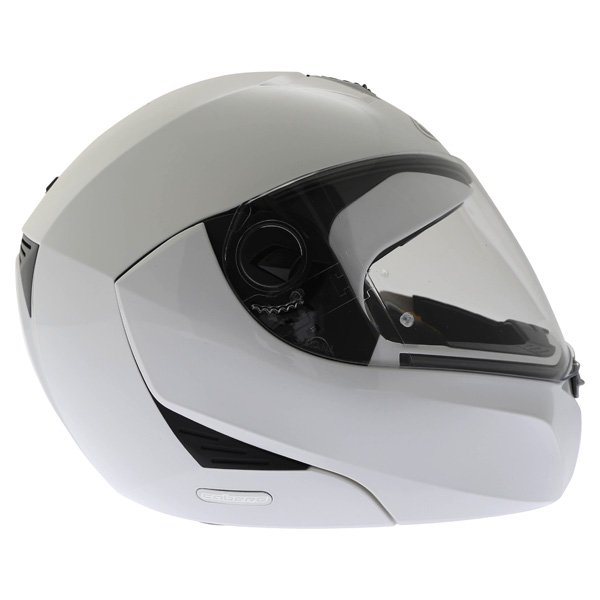 Caberg Modus White Flip Front Motorcycle Helmet Right Side