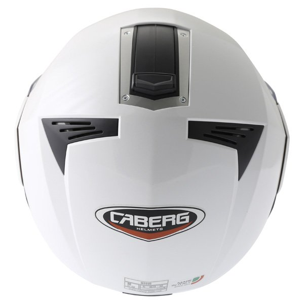 Caberg Modus White Flip Front Motorcycle Helmet Back