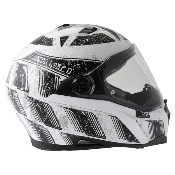 Caberg Stunt Steez White Black Full Face Motorcycle Helmet Right Side