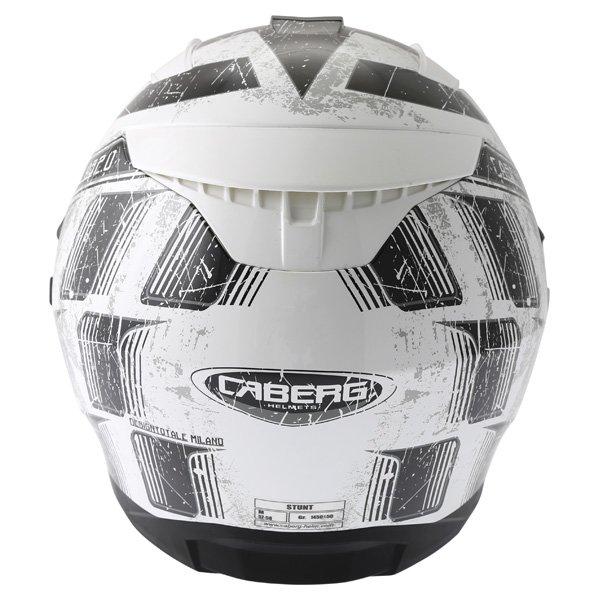 Caberg Stunt Steez White Black Full Face Motorcycle Helmet Back