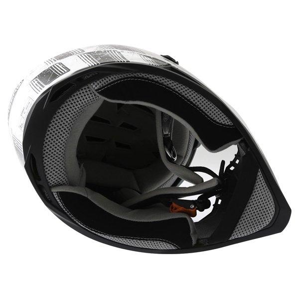 Caberg Stunt Steez White Black Full Face Motorcycle Helmet Inside